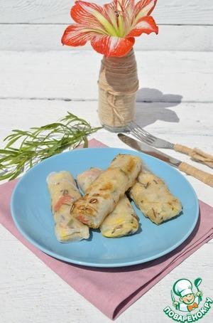 Рецепт Спринг роллы с рисом и кабачком