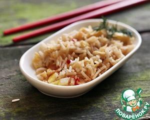Рецепт Рис с чесночно-имбирным омлетом