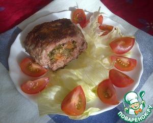 Рецепт Зразы с помидорами, сыром и укропом