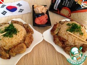 Рецепт Жареный рис по-корейски (Kimchi Bokk Eum Bap)