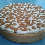 Пирог из песочного теста с повидлом и прослойкой безе