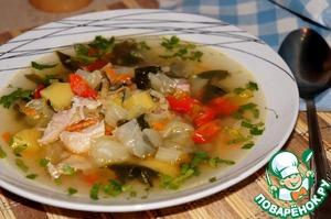 Рецепт Овощной суп со шпинатом