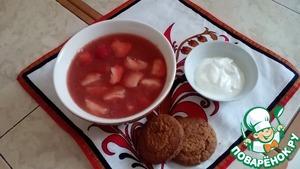 Рецепт Суп-пюре из клубники