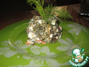 Как готовить Салат из морской капусты рецепт с фото