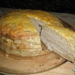 Блинный пирог с селедочным паштетом