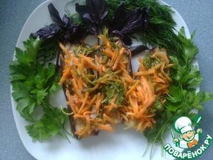 """Рецепт Баклажаны """"Лето"""" с морковью и зеленью в маринаде"""