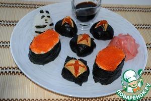 Рецепт Дзакуро-дзуси и гункан суши
