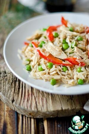 Рецепт Жаренный рис с курицей по-Китайски