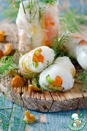 Рецепт Спринг-роллы с грибами и овощами