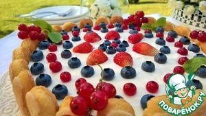 Рецепт Чизкейк Аля Тирамису с ягодой