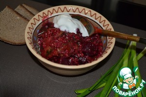 Рецепт Шпундра (свинина со свеклой)