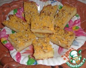 Рецепт Пирог с масляной заливкой и сладкой хрустящей корочкой