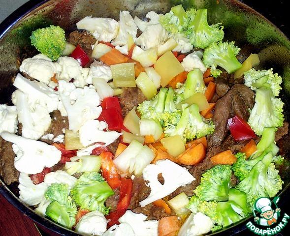 Рис с говядиной и овощами рецепт