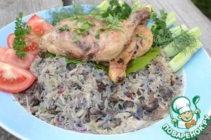 Рецепт Плов с печенью и цыпленком с Ближнего Востока