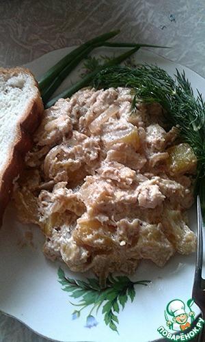 Рецепт Курица с кабачками в сметане