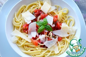 рецепт пасты со свежих помидор для спагетти