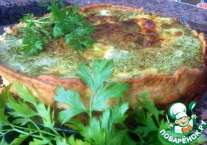 Рецепт Киш с лососем, шпинатом и моцареллой