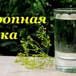 Укропная водка