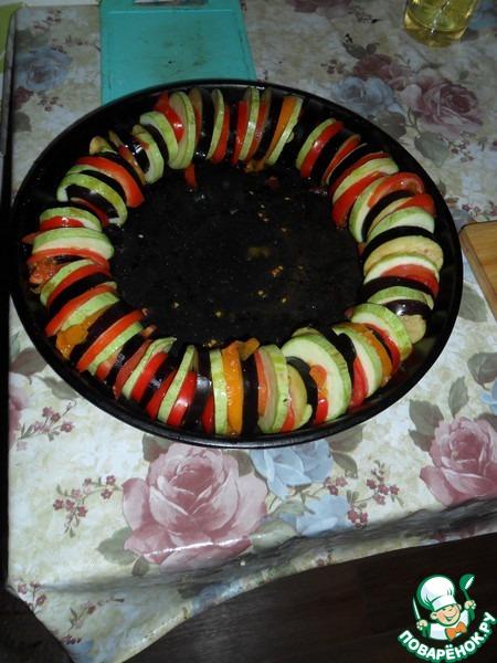 Кабачок картошка баклажан помидор в духовке