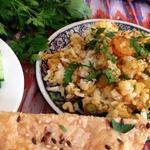 Хайдарабадское бирьяни с креветками