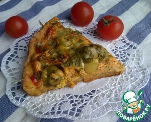 Рецепт Тарт с творогом, кабачками и оливками