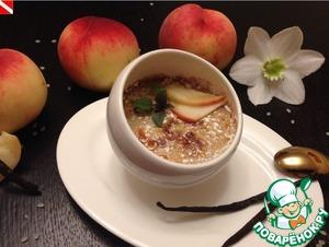 Рецепт Рисовый крем-брюле с персиками