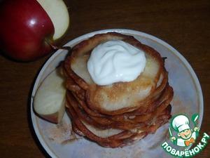 Рецепт Яблочные оладьи с корицей