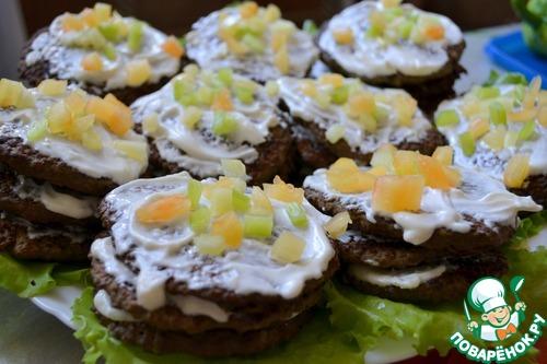 Печеночные оладьи с майонезом и чесноком рецепт 115