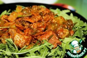 Рецепт Говядина с солеными огурчиками