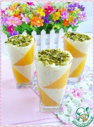 Рецепт Десертное ризотто с персиковым желе