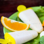 Рисовое мороженое с апельсиновым соком