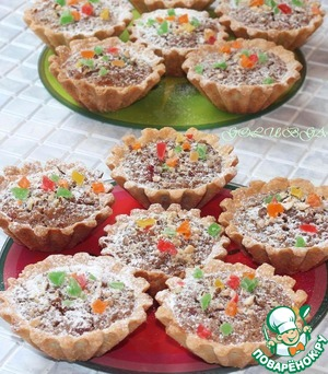 Рецепт Сладкие рисовые тарталетки с начинкой