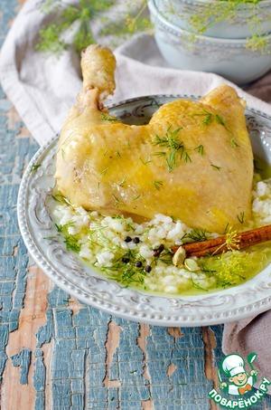 Рецепт Рисовый суп с курицей и корицей