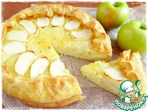Рецепт Рисовый пирог с яблоками и лимонным джемом