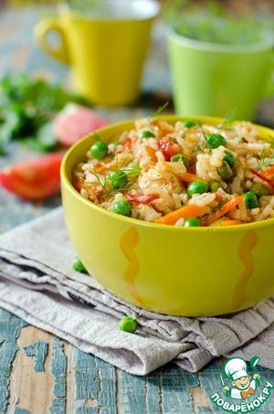 Рецепт Плов из курицы с овощами