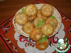 Рецепт Слоистые мини-пирожки с капустой, яйцом и зеленью