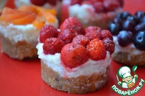 Рецепт Тарталетки с рисом и ягодами