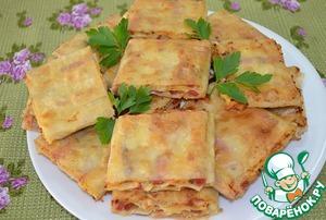 Рецепт Жареный лаваш с колбасой и сыром