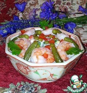 Рецепт Восточный рисовый салат с креветками