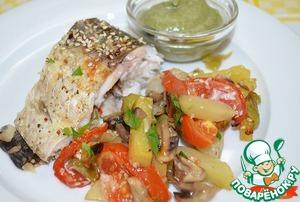 Рецепт Запеченный Амур с овощами