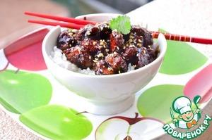 Рецепт Курица с мёдом и кунжутом по-китайски
