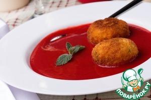 Рецепт Клубничный суп с десертными аранчини