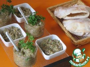 Рецепт Мелидзаносалата, салат из баклажанов, с питой