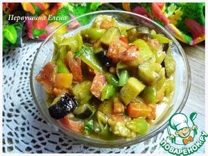 Рецепт Овощи в сливочно-соевом соусе
