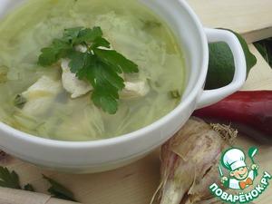 Рецепт Щи из молодой капусты с курицей в мультиварке