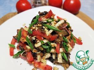 Рецепт Салат из баклажанов, помидоров и сыра