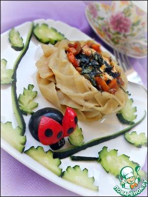 Рецепт Тушеные овощи в брюссельском гнезде