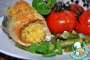 Рецепт Рулетики из скумбрии с сыром и овощами