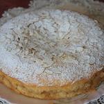 Французский миндально-яблочный пирог