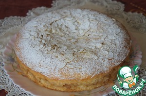 Рецепт Французский миндально-яблочный пирог